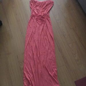 Splendid long maxi dress with cinched waist.